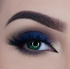 Blue makeup for green eyes | ko-te.com by @evatornado |