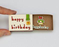 Super Mario Geburtstagskarte Matchbox / Geschenkbox / von shop3xu