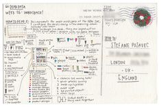 Two Strangers, One Year of Postcards sharing the Hidden Patterns of their Lives
