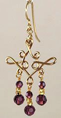 Suzanne's Jewelry Wire & Beads Earrings Jewelry Making Project