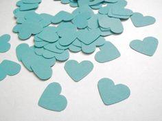 Decorazioni - cuori coriandoli verde acqua menta nozze matrimoni - un prodotto unico di LaSoffittaDiSte su DaWanda