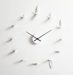 Swallow Clock by Haoshi Design.
