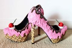 Strawberry ice cream inspired shoes  Www.etsy.com/UK/shop/Fairydusttoes