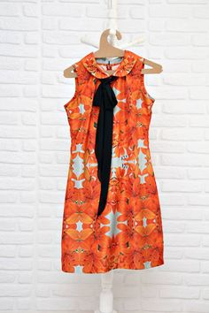 gravatinha, floral & gola peter pan. - vestidos rita prado