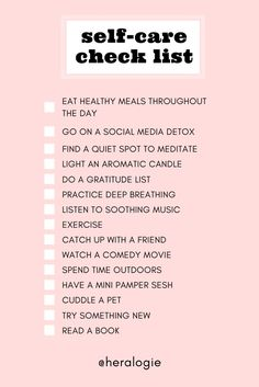 Use this clever checklist to make sure you are taking care of yourself, mind and body. Self care is self love. And doing these things frequently if not every day will help you improve yourself and yoru quality of life. For period panties, go to www.heralogie.com or on Instagram @heralogie. Health Routine, Self Care Routine, Wellness Tips, Health And Wellness, Womens Health Care, Psychological Well Being, Self Esteem Quotes, Social Media Detox, Self Love Affirmations