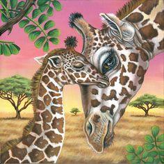 Giraffe Painting-Print