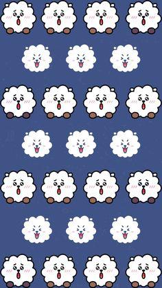 Cookies Pattern Ideas For 2019 Bts Backgrounds, Cute Wallpaper Backgrounds, Cute Wallpapers, Bts Jungkook, Namjoon, Taehyung, Army Wallpaper, Bts Wallpaper, Bts Chibi