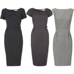 Grey Shift Dresses. Perfect pin attire.