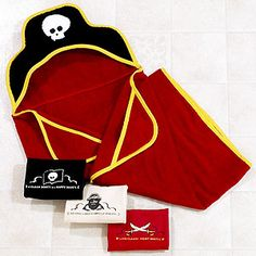 Pirate towels- in case we have boys at the party. They probably wouldn't want to be a mermaid.