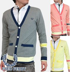 Rakuten: 05 16 26 three colors of fred perry fine horizontal stripe cardigan men outer 2013 latest Fred Perry Fine Border Cardigan Cool Max jacket midnight blue yellow pink Midnight Blue Yellow Pink Fred Perry f3093 *s *m *l- Shopping Japanese products from Japan
