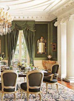 #Olive - dining room by Alexa Hampton