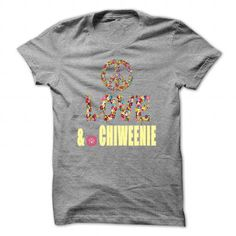 Peace, Love and a Chiweenie - #black tee #tshirt girl. WANT THIS => https://www.sunfrog.com/Pets/Peace-Love-and-a-Chiweenie-SportsGrey-38164289-Guys.html?68278