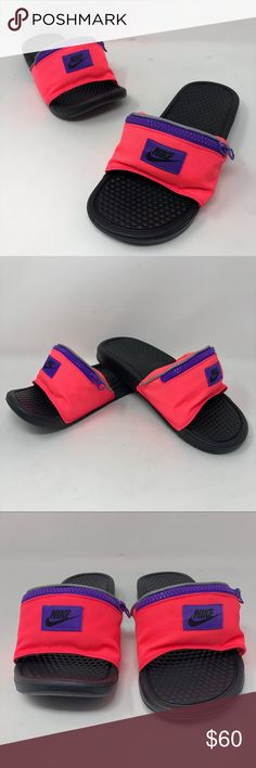 bb3bda4a76c244 Nike Benassi JDI Fanny Pack Slide AO1037-600 Sz 7 New with a defect.