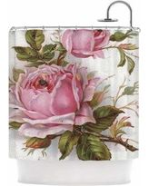 KESS InHouse Vintage Rose by Suzanne Carter Floral Shower Curtain SC2088ASC01