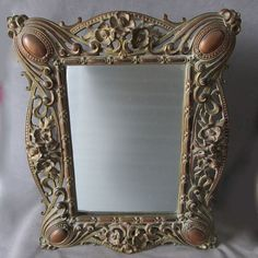 Lovely Antique Art Nouveau Vanity Mirror or Picture Frame