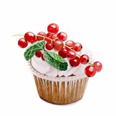 Cupcake with currants