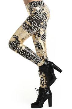 #Romwe Snake Print Leggings