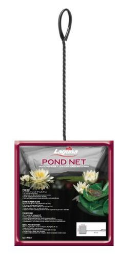 Laguna Mini Pond Fish Net with 10-Inch Handle by Laguna. $4.26. Reversible argyle raincoat. Net has an optimum mesh structure that minimizes drag and enables quick fluid movements in the water. Net measures 6-inch length by 8-inch height by 6-inch width. Ideal for handling fish or for skimming and removing leaves and debris. Features a plastic-coasted handle that prevents corrosion and provides a safe comfortable grip. This mini pond fish net features soft, fish-friendly nettin...