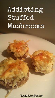 Addicting Stuffed Mushrooms
