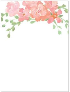 Our custom floral design for ceremony stationary!