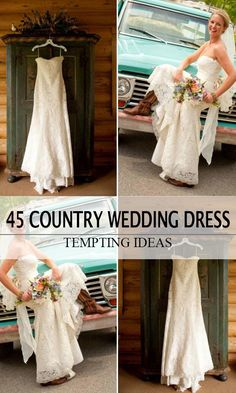 c6031a1e03ed 45 Short Country Wedding Dress Perfect with Cowboy Boots