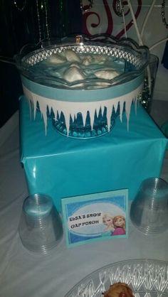 Disney Frozen Birthday Party Elsa's Snow Cap Punch Drink