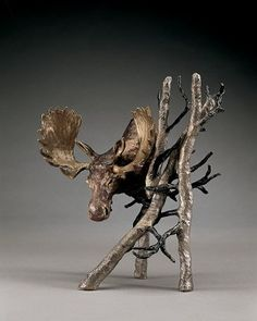 Solitude (small) - A bronze sculpture by Mark Hopkins inches Disney Fine Art, Sculptures, Lion Sculpture, Artist Workshop, Ceramic Animals, Bronze Sculpture, Solitude, Moose Art, Statue