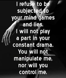 Narcissist Manipulative  Mind Games Tactics - Refuse the abuse