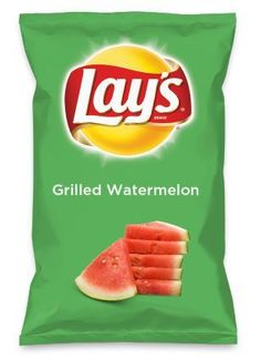 Wouldn't Salted Watermelon be yummy as a chip? Lay's Do Us A Flavor is back, and the search is on for the yummiest chip idea. Would you vote for it? Lays Potato Chip Flavors, Lays Chips Flavors, Lays Potato Chips, Oreo Flavors, Pickled Watermelon Rind, Grilled Watermelon, Sweet Watermelon, Watermelon Lemonade, Weird Food