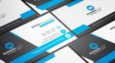Free download httpfree business card templatescreative free templates for business cards free stunning blue corporate business card template cheaphphosting Images