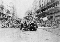 Jean Pierre Rey et André Sas sur les barricades Mai 68 by Roboth