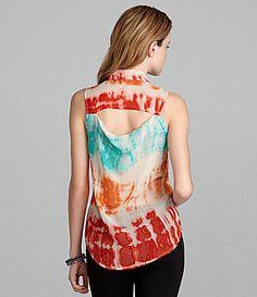 GB Open-Back Tie-Dye Blouse