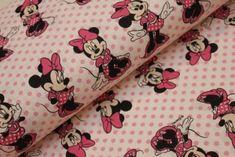 Myška Minnie na růžovém puntíku Alexander Mcqueen Scarf, Fabric, Scrappy Quilts, Tejido, Tela, Cloths, Fabrics, Tejidos