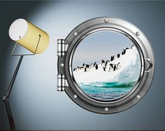 Penguin Arctic Wall sticker Kids Bedroom Decal Mural Wall Art Stickers Penguins