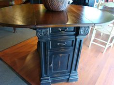 Kitchen Island Breakfast Counter Drop Leaf Dining Table