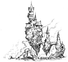 Raging Swan Press publishes flavoursome, time-saving easy-to-use Resources for busy GMs. City Drawing, House Drawing, Castle Drawing, Fantasy Concept Art, Fantasy Art, Pc Minecraft, Art Sketches, Art Drawings, Fantasy Castle