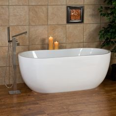 """65"""" Boyce Freestanding Acrylic Tub  $1249.95 with OF and drain"""