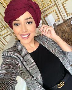 Turban Outfit, Hair Turban, Turban Style, Turban Headbands, Hijab Outfit, Stylish Hijab, Modern Hijab, African Fashion Ankara, African Dress