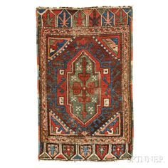 Central Anatolian Yastik, Turkey, late 19th century, 3 ft. x 1 ft. 10 in. | Skinner Auctioneers Sale 2884B