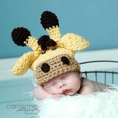 PDF Giraffe Hat CROCHET PATTERN All sizes included by RAKJpatterns, $4.49