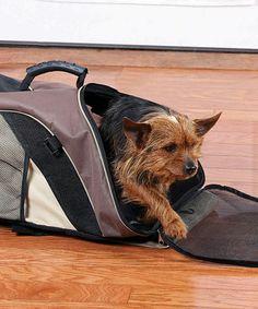 Brown Backpack Pet Carrier #zulily #zulilyfinds