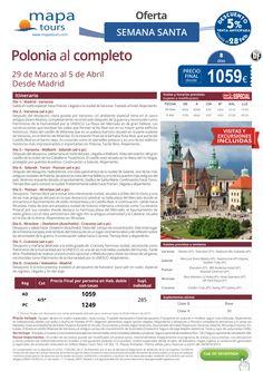 Polonia al completo -Semana Santa-desde Madrid**Precio final desde 1059** ultimo minuto - http://zocotours.com/polonia-al-completo-semana-santa-desde-madridprecio-final-desde-1059-ultimo-minuto-2/
