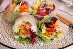 Rouleaux de printemps, sauce aux arachides - recette healthy, crue et vegan