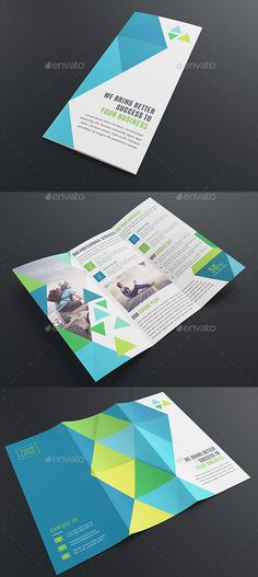 Corporate Tri-Fold #Brochure Template - Corporate Brochures
