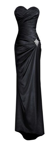 Save $80.98 on Fiesta Women's Strapless Long Satin Bridesmaids Dress with Brooch; only $69.00