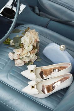 WEDDING ACCESSORIES: Complement your bouquet with pastel-coloured bridal shoes and accessories. #WedWithTed