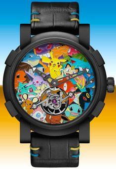 The Romain Jerome Tourbillon Pokemon is part of a limited series of. just one piece, which surely turns this beauty into an instant collectible. Romain Jerome, Sport Watches, Cool Watches, Watches For Men, Men's Watches, Pokemon Watch, Mens Designer Watches, Tourbillon Watch, Culture Pop