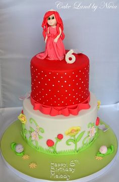 Strawberry shortcake adventures cake