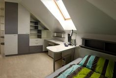 Ceiling Storage, Attic Rooms, Sloped Ceiling, Bedroom Styles, Creative Home, Marcel, Kids Room, Sweet Home, Loft