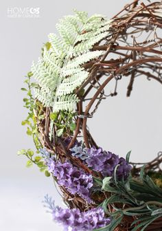 DIY Basket Wreath